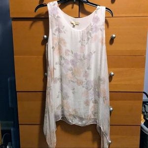 🌹NWOT GIUSY LONG FLOWY FLORAL TOP🌹